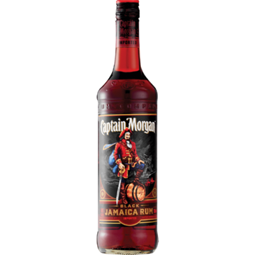 Picture of Captain Morgan Black Jamaica Rum Bottle 750ml