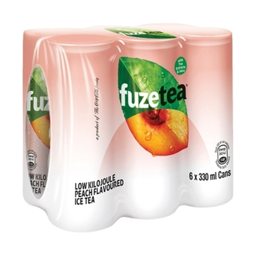 Picture of Fuze Peach Ice Tea Can 6 x 330ml