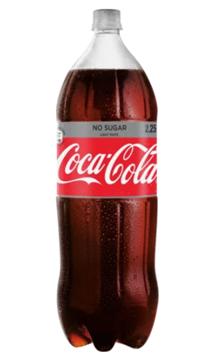 Picture of Coca Cola Light No Sugar Soft Drink Bottle 2.25L