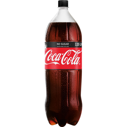 Picture of Coca Cola Zero Soft Drink Bottle 2.25L