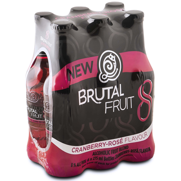 Picture of Brutal Fruit Cranberry Bottles 24 x 275ml
