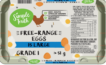 Picture of Simple Truth Free Range Eggs Large 15s Tray