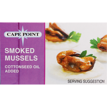 Picture of Cape Point Smoked Mussels In Oil 85g