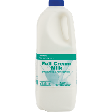 Picture of Checkers Housebrand Fresh Full Cream Milk 2L