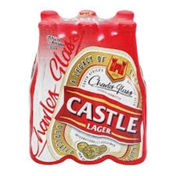 Picture of Castle Lager Beer 6 x 340ml Bottle