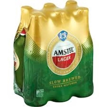 Picture of Amstel Lager Beer 6 x 330ml Bottle