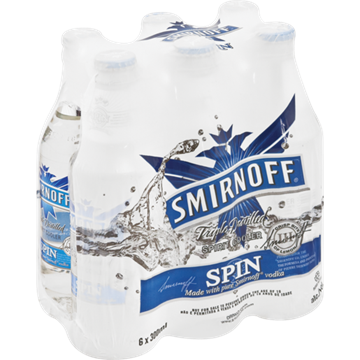 Picture of Smirnoff Spin 6 x 300ml Bottle