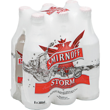 Picture of Smirnoff Storm 6 x 300ml Bottle