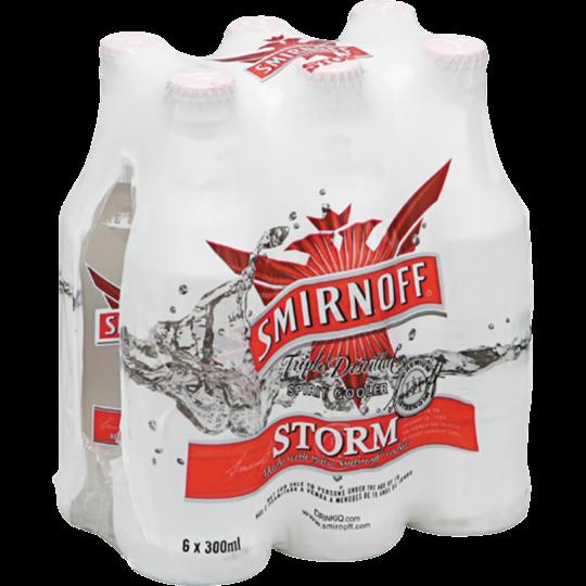 Picture of Smirnoff Storm 6 x 300ml Bottle