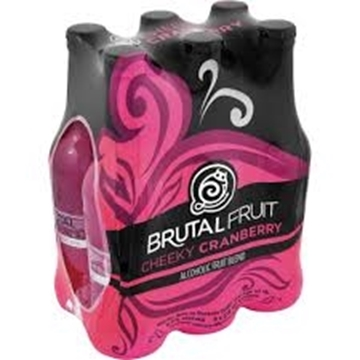 Picture of Brutal Fruit Cheeky Cranberry 6 x 275ml Bottle
