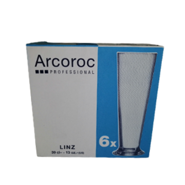 Picture of ARC Linz Beer Glass Pack 6 x 390ml