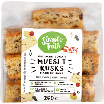 Picture of Simple Truth Gluten Free Muesli Rusks 250g