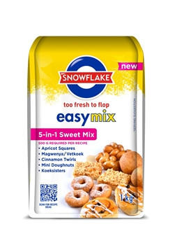 Picture of Snowflake Easymix 5in1 Sweet Mix 1kg Pack