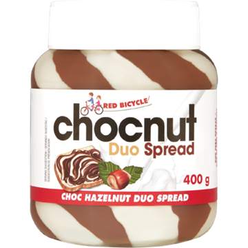 Picture of Red Bicycle Hazelnut Duo Chocolate Spread 400g