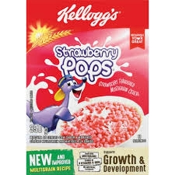 Picture of Kelloggs Strawberry Pops Cereal Pack 350g