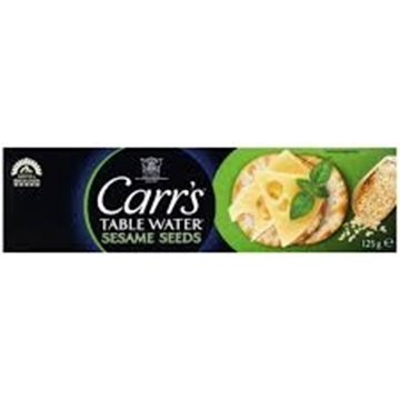 Picture of Carrs Table Water Sesame Seed Biscuits 125g