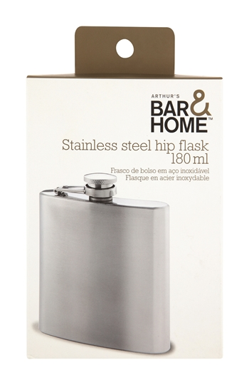 Picture of Bar & Home Hip Flask Stainless Steel 180ml