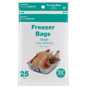Picture of Housebrand Large Freezer Bags 25 Pack