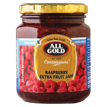 Picture of All Gold Raspberry Jam Jar 320g