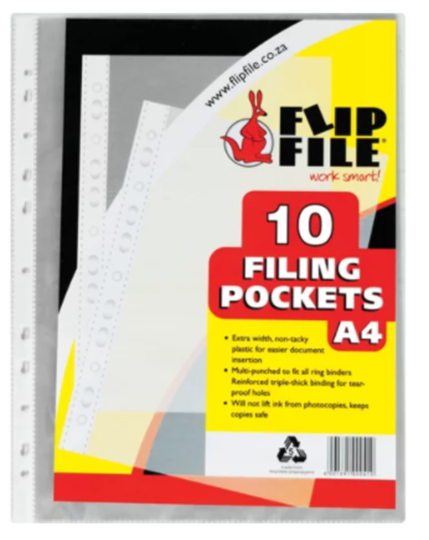 Picture of Flip File A4 File Sleeves 10s