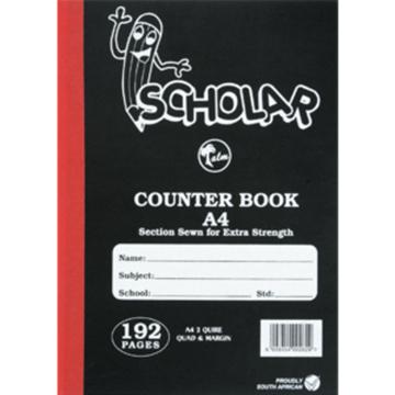 Picture of Scholar A4 Hardcover Counter Book 192 Page