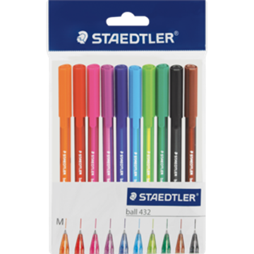 Picture of Staedtler Fluorescent Ballpoint Pens 10 Pack