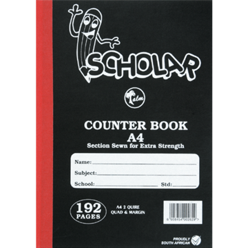 Picture of Scholar Quad&Margin A4 H-Cover Exercise Book 192pg