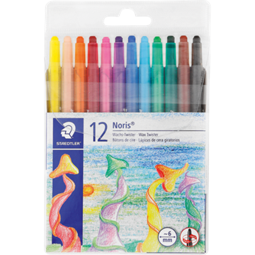 Picture of Staedtler Retractable Wax Crayons 12 Pack