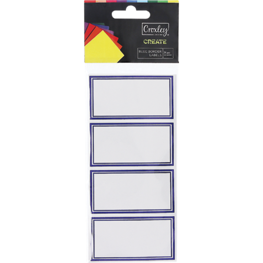 Picture of Croxley Blue Border Labels 24's