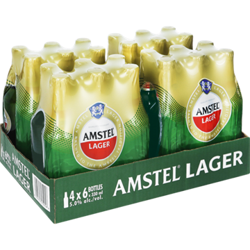Picture of Amstel Lager Beer Bottles 24 x 330ml