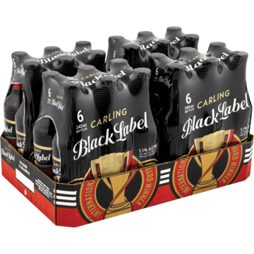 Picture of Carling Black Label Beer Bottles 24 x 340ml