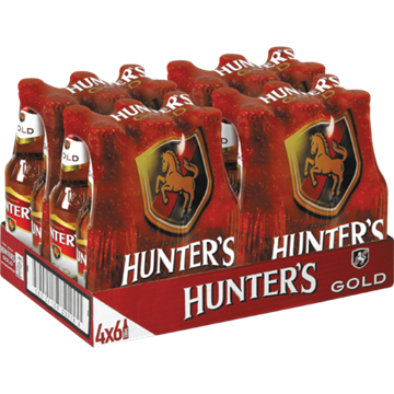 Picture of Hunter's Gold Cider Bottles 24 x 330ml