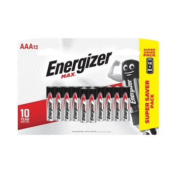 Picture of Energizer AAA Alkaline Batteries 12s Pack