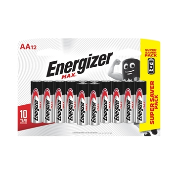Picture of Energizer AA Alkaline Batteries 12s Pack