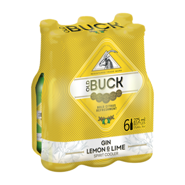 Picture of Old Buck Gin Lemon & Lime Cooler 6 x 275ml