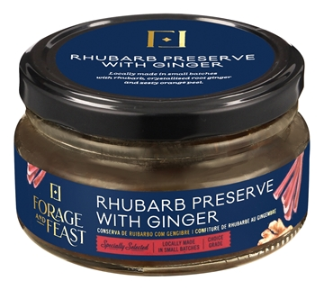 Picture of Forage & Feast Rhubarb & Ginger Preserve 200g
