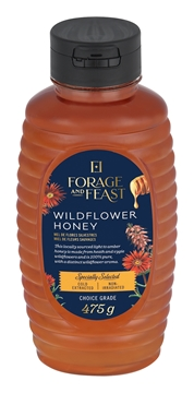 Picture of Forage & Feast Wildflower Honey Bottle  475g