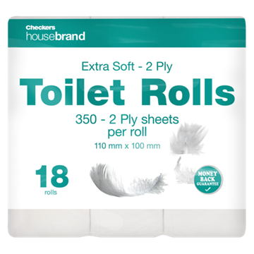 Picture of Housebrand White 2 Ply Toilet Rolls 18 Pack