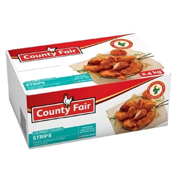 Picture of County Fair Frozen Crumbed Chicken Strips 2.4kg