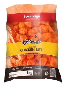 Picture of Chickentizers Frozen ChilliCheese Chicken Bites1kg
