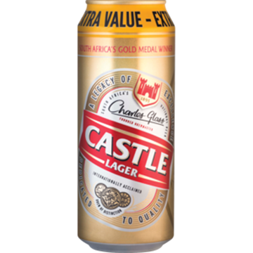 Picture of BEER LAGER CASTLE 500ML CAN